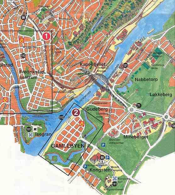 fredrikstad kart Kart over Fredrikstad fredrikstad kart